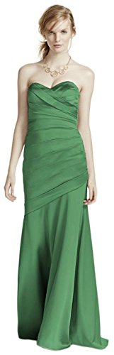 Long Strapless Stretch Satin Bridesmaid Dress Style F15586 – 6, clover