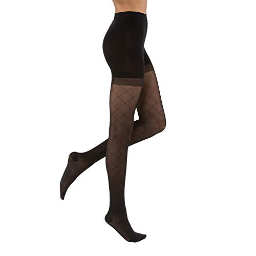 JOBST UltraSheer Diamond Pattern 20-30 mmHg Waist High Compression Pantyhose Stockings, Closed Toe, Small, Classic - Diamond Pattern Pantyhose
