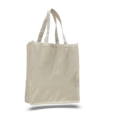 SHOPINUSA Buy Bulk Jumbo Size Heavy Canvas Shopping Tote bag