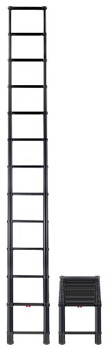 Telesteps 1600ET OSHA Compliant 16 ft Reach Black Tactical Telescoping Extension Ladder ()