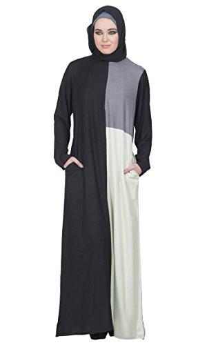 Grey and Cream Mehrfarbig Durchgehend East Essence Kleid Black Damen xYPWqOCwF