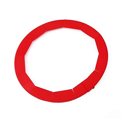 HS Silicone Adjustable Pie Crust Shield Pie Protectors (Red) 1pc