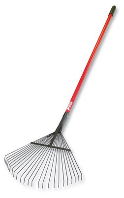 Bully Tools Lawn and Leaf Rake with Fiberglass Handle