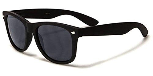 Dark Lens Retro Wayfarer Sunglasses Flex Fit Frame - Matte Black