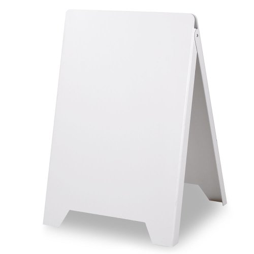 delicate GHP A-Frame PVC Plastic Double-Side White Restaurant Cafe ...