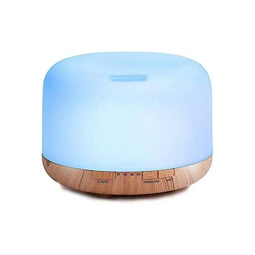 chollos oferta descuentos barato Decdeal 500ml Humidificador Ultrasónico de Aire con Mando a Distancia Lámpara Difusora de Aromas Aceite Esencial Aromaterapia Mist Maker