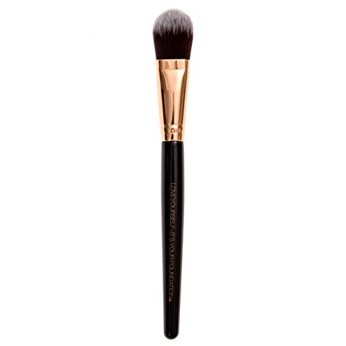 Premium Quality Tapered Liquid Foundation Makeup Brush (KandeStixx) w/Nylon Dense Bristles ~ Perfect for Applying Your Fav Foundation, BB Cream, Tinted Moisturizer, and Concealer by Kandelicious