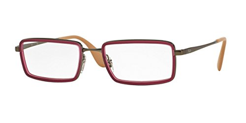 Ray Ban Optical Montures de lunettes RX6337 Pour Homme Rubber Black, 51mm 2857: Rubber Fuchsia