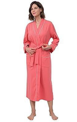 PajamaGram Women's Cotton Sleepwear Ladies Soft Long Robe