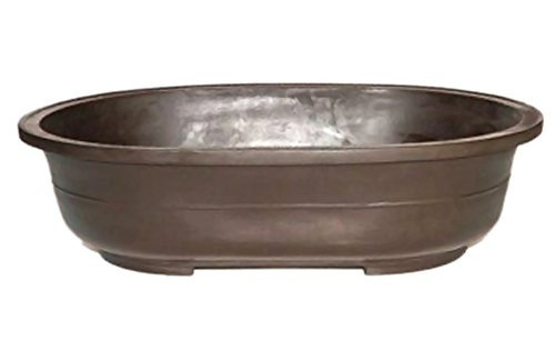 Bonsaiboy Home Decor Brown Mica Bonsai Pot - Oval 16.75 x 11.75 x 4.0OD 15.25 x 10.25 x 3 ID