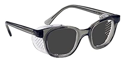 b546cd54da Image Unavailable. Image not available for. Color  Glass Safety Glasses In  Economy Plastic Smoke Gray Safety Frame With Permanent Side Shields