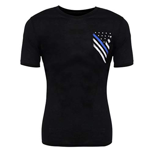 - Men Short Sleeve T Shirts Summer, Amiley Men's Independence Day Black Short Sleeve Shirt Blouse American USA Flag Comfy Tops (2XL, A)