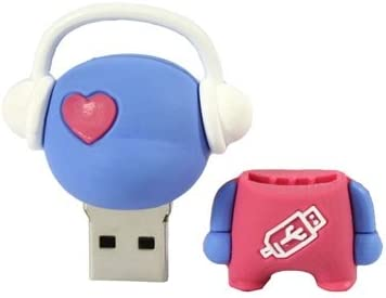 8GB Blue Special LYNHJCusb Flash Drive Mobile Storage Device Music Man Cartoon USB Flash Disk