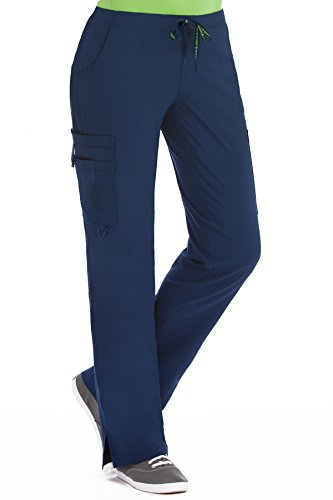 Med Couture Women's 'Activate' Hi-Definition Cargo Scrub Pant, Navy, Small