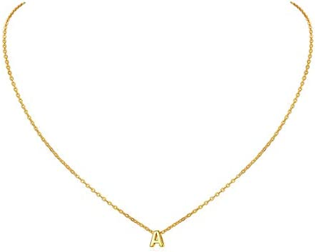Inicial A Oro Amarillo Real 18K Plata de Ley 925 Colgante Veintiseis Alfabeto Cadena Elegante Fina Regalo Hombres Mujeres Joyería Minimalista: Amazon.es: Joyería
