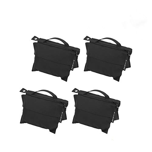Photography Sand Bag Professional Saddle Weight Bag for Photo Video Studio Stand, Without Sand (4 Pack) from Explore Land