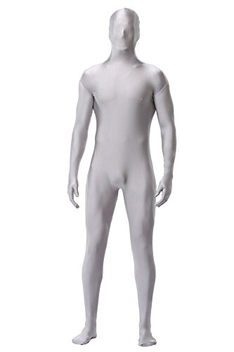 caringgarden Unisex Adult Lycra Spandex Zentai Unitard, One Piece Full Bodysuit, Skin Tights, Size XXL In Grey
