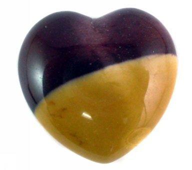 30mm Mookaite Jasper Puff Heart ()