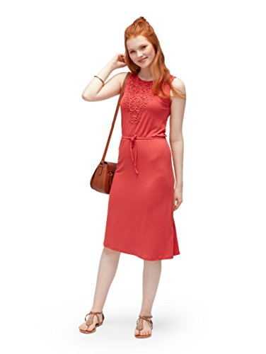 TOM TAILOR Damen Kleid Strandkleid mit Stickereidetails und ...