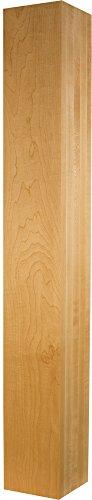 Square Leg in Alder - Dimensions: 29 x 5 inches (Square Table Alder)