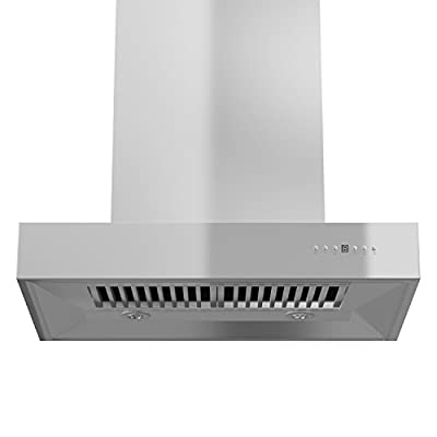 """Z Line KECOM-RD-36 1200 CFM Wall Mount Range Hood with Remote Dual Blower, 36"""", Stainless Steel"""