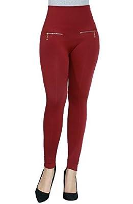 Faux Fur Fleece Lining Zipper Stretch Soft Basic Legging Pants For Women
