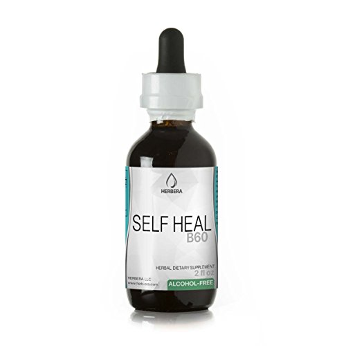Self Heal B60 Alcohol-Free Herbal Extract Tincture, Organic Self Heal (Heal All, Prunella Vulgaris) Dried Herb (2 fl oz)