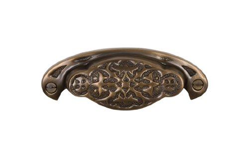 (Brass Elegans BE-37AB Vintage Design Newcastle Series Solid Brass Bin Pull, Antique Brass Finish)