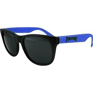Thrasher Magazine Logo Black / Blue Sunglasses