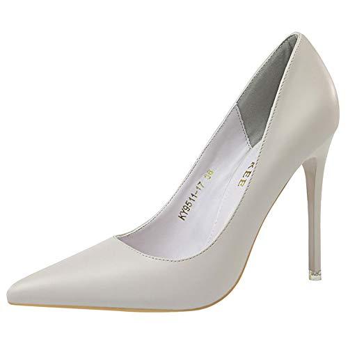 On Zanpa Stiletto Heels Moda Pumps Donne Slip 2 grigio qF7YFOA