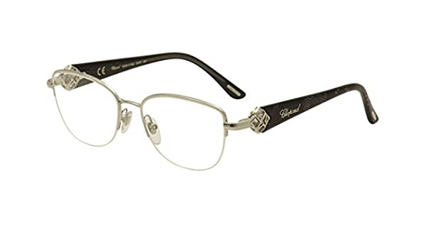 d4419464d4 Amazon.com  Chopard Eyeglasses A93S 0579 Black 23KT White Gold Plated  Optical Frame 53mm  Health   Personal Care