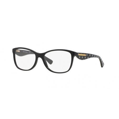 Dolce&Gabbana GOLD LEAF DG3174 Eyeglass Frames 2877-52 - Black DG3174-2877-52