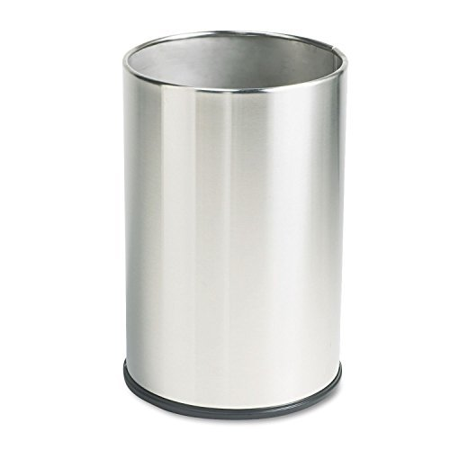 Rubbermaid Commercial UB1900SSS European & Metallic Series Wastebasket, Round, 5gal, Satin Stainless