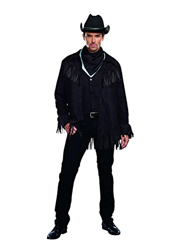 Dreamgirl Men's Cowboy Costume, Black, Large