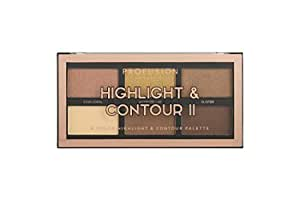Profusion Cosmetics Rich Ingredients Long Lasting and Bendability Lightweight Mini Artistry Highlight & Contour II Palette - Medium Dark