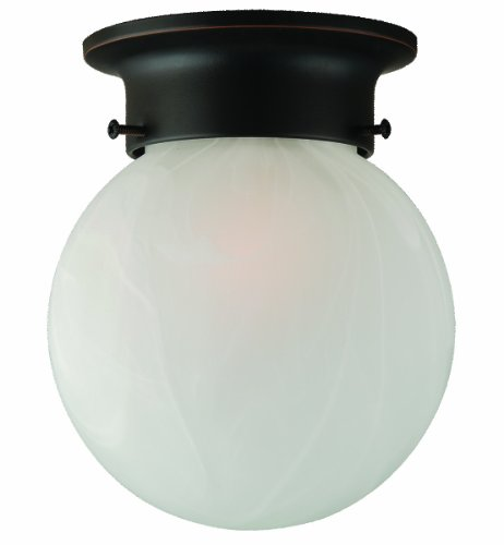 Design House 514521 Millbridge 1 Light Round Ceiling Light, Oil Rubbed Bronze by Design House