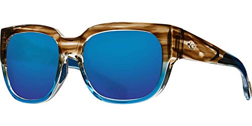 Costa Del Mar Waterwoman Sunglasses Shiny Wahoo Polarized 580G Blue Mirror Glass Lens