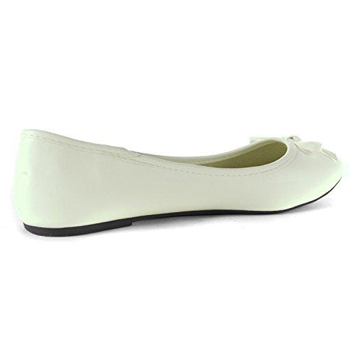 Alpine Swiss Iris Womens Genuine Suede Lined Bow Ballet Flats White XQNjfTA1T