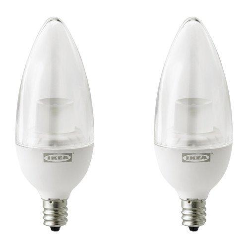 RYET LED bulb E12 200 lumen, chandelier clear 2 pack