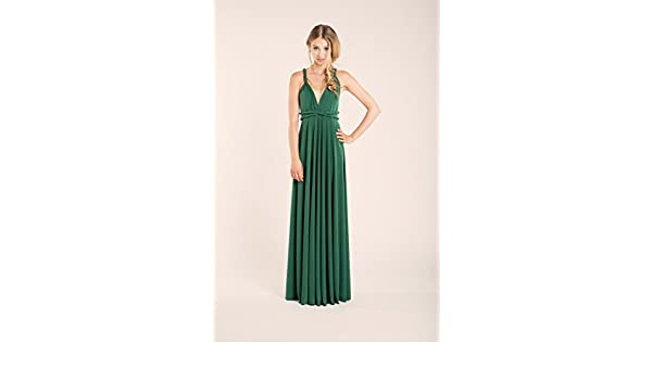 Amazon.com: Green infinity dress, green long infinity dress, long green dress, infinity dress, bridesmaid dress, forest green maxi dress, ready to ship: ...