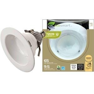 Qty/1 - Ecosmart Led Soft White Flood/65 Watt Equivalent Bulb/9.5 Energy Used In Watts/575 Lumens/3-year Warranty/35,000 Life In Hours
