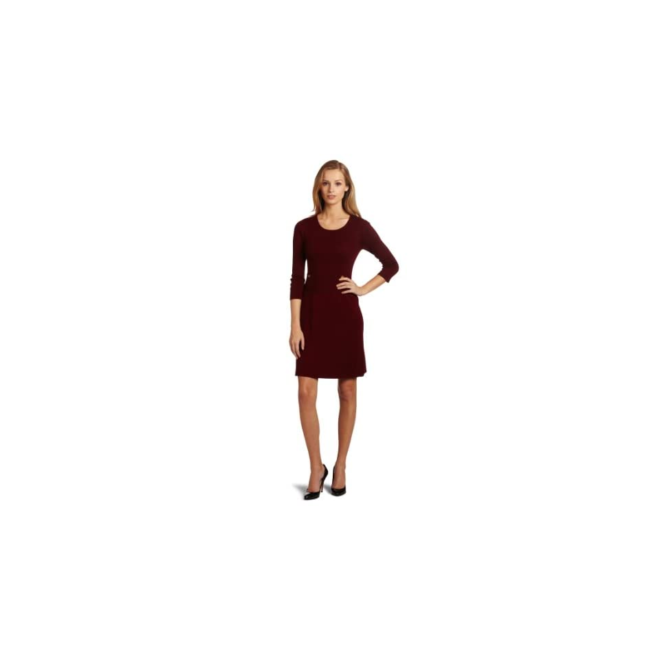Anne Klein Womens A Line Sweater Dress With Pockets