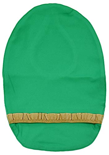 Stretchy Deodorizing Ostomy Pouch Cover (Green - Frill, F)