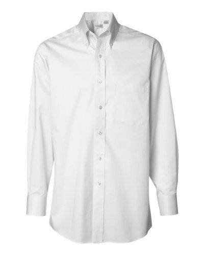 Van Heusen mens Long-Sleeve Dress Twill(13V521)-WHITE-M ()