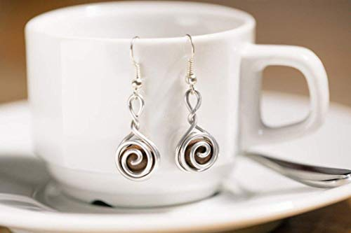 (Handmade Coffee Bean Earrings for Women | Coffee Jewelry Gift for Coffee Lovers | Made with love in the Dominican Republic by Madres Jewelry Collective)