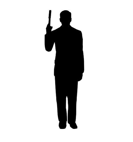 Advanced Graphics Secret Agent Spy With Gun Silhouette Life Size Cardboard (Agent Gun)