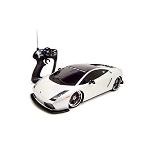 Remote Control Lamborghini Gallardo White RC Car 1/10 Ready To Run
