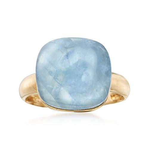 Ross-Simons 11.00 Carat Milky Aquamarine Ring in 14kt Yellow Gold
