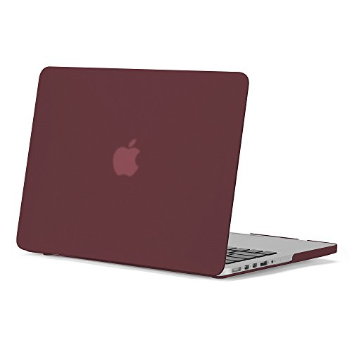 GMYLE 3 in 1 Bundle Burgundy Red Set Matte Plastic Hard Case for OLD MacBook Retina Display Pro 13 Inch NO CD-ROM (A1502/A1425,Version 2012-15) & Water Repellent Laptop Sleeve with Keyboard Skin by GMYLE (Image #4)
