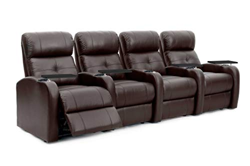 Octane Sonic XS900 Brown Leather Home Theater Seating (Set of 4) ()